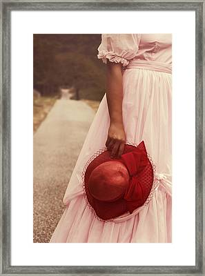 Lady With Hat Framed Print