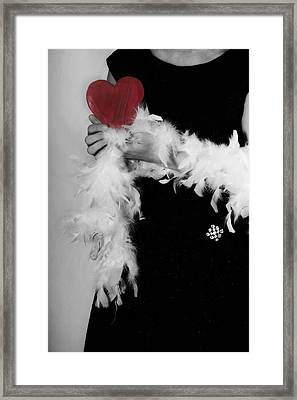 Lady With Heart Framed Print