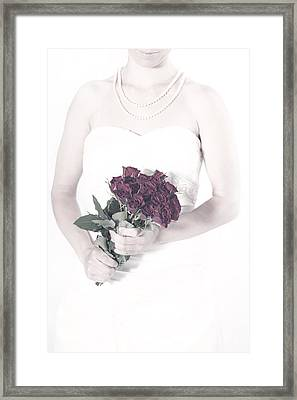 Lady With Roses Framed Print by Joana Kruse