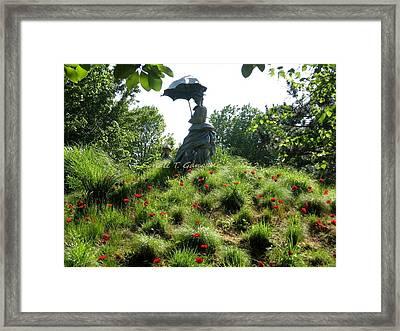 Lady With Umbrella Framed Print by Sonali Gangane