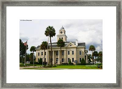 Lafayette County Courthouse Framed Print by Barbara Bowen