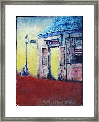 Lafitte's Blacksmith Shop From The Shortside Framed Print