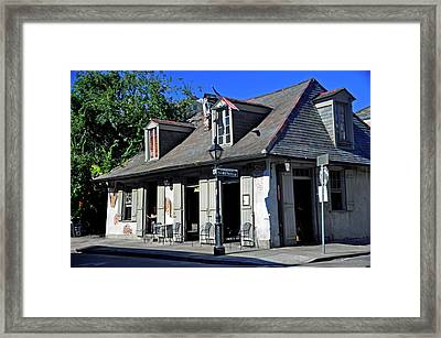 Framed Print featuring the photograph Lafittes Blacksmith Shop by Helen Haw