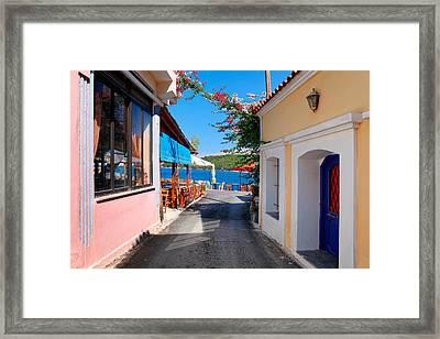 Lagada Chios Greece  Framed Print