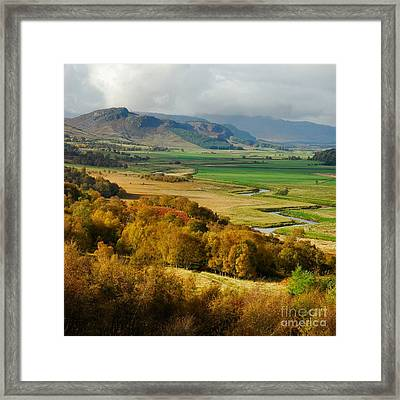 Laggan Autumn - The Clan Mcphersons Seat Framed Print by John Kelly