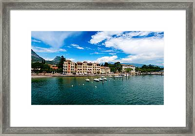 Lago Di Garda In Italy In Early Spring  Framed Print by Ulrich Schade
