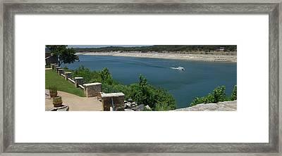 Lago Vista Texas Lake Travis Framed Print by Elizabeth Sullivan