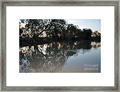 Lagoon At Dusk Framed Print by Joanne Kocwin