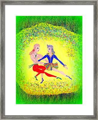 Lagoon Dancers Framed Print