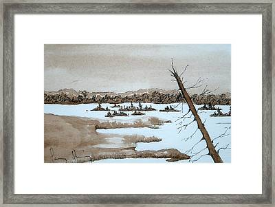 Lagoon On Madeline Island Framed Print