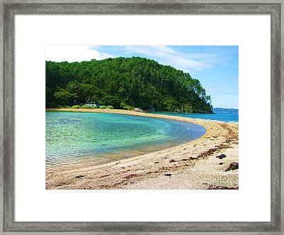 Framed Print featuring the photograph Lagoon On Roberton Island by Michele Penner