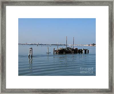 Lagoon. Venice Framed Print by Bernard Jaubert