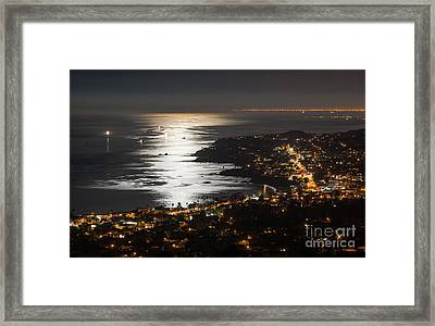 Laguna Beach Moonlight Framed Print