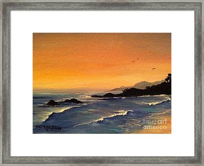 Laguna Sunset Framed Print by Barbara Gilroy