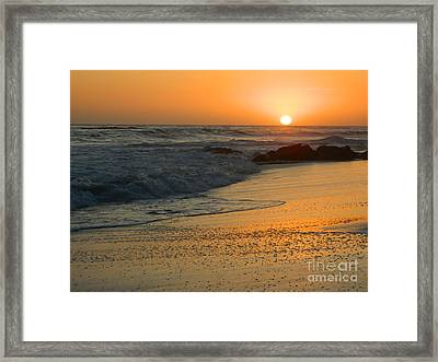 Framed Print featuring the photograph Laguna Sunset by Everette McMahan jr