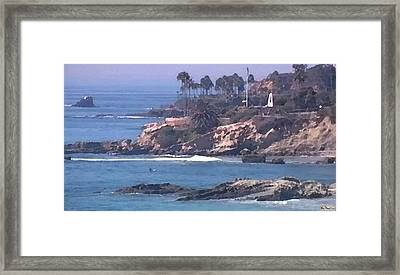 Laguna Surf Framed Print by Paula Greenlee