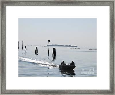Lagune De Venise Framed Print by Bernard Jaubert