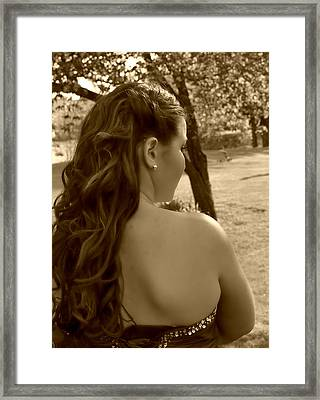 Lainey In A Different Light Framed Print by Casey Riitano