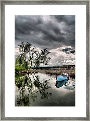 Framed Print featuring the photograph Lake - 1 by Okan YILMAZ