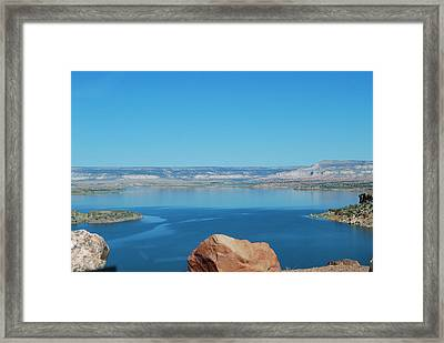 Framed Print featuring the photograph Lake Abiquiu by William Wyckoff
