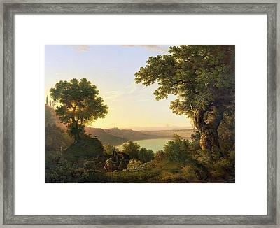 Lake Albano - Italy Framed Print