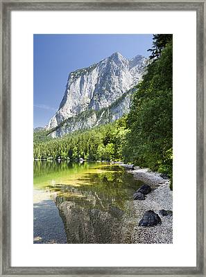 Lake Altausseer See And Mount Trisselwand Framed Print