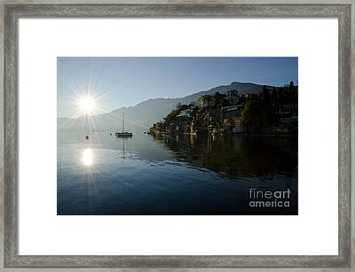 Lake And Sunlight Framed Print by Mats Silvan