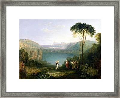 Lake Avernus - Aeneas And The Cumaean Sibyl Framed Print by Joseph Mallord William Turner
