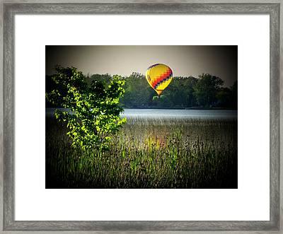 Lake Balloon Framed Print by Michael L Kimble