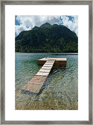 Lake Bious Framed Print by Www.duncanrichards.net