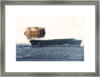 Lake Bottom Boat Framed Print by Ronald Hoggard