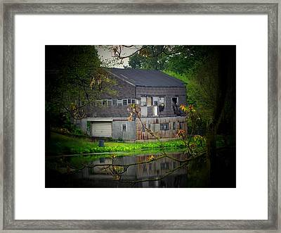 Lake Building Framed Print by Michael L Kimble