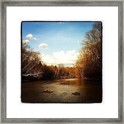 #lake #creek #nature #ohio Framed Print