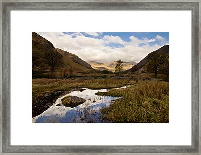 Framed Print featuring the photograph Lake District Reflections by Justin Albrecht