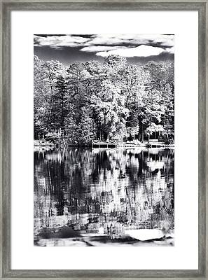 Lake Drama Framed Print