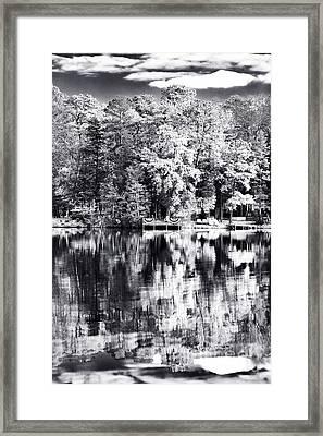 Lake Drama Framed Print by John Rizzuto