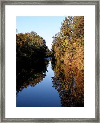 Lake Drummond Canal Framed Print by Feva  Fotos
