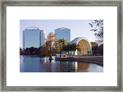 Lake Eola's  Classical Revival Amphitheater Framed Print by Lynn Palmer