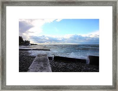 Lake Erie Fall Framed Print by Kevin Schrader