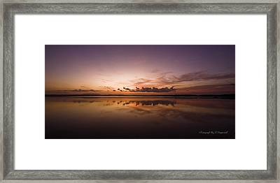 Framed Print featuring the digital art Lake Forster Nsw 01 by Kevin Chippindall