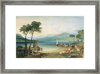Lake Geneva And Mont Blanc Framed Print by Joseph Mallord William Turner