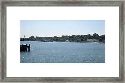 Lake Huron Shoreline And Harbor - Michigan Framed Print