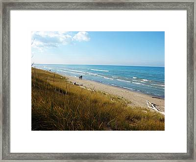 Lake Huron Shoreline Framed Print
