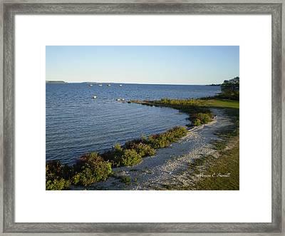 Lake Huron Shoreline Collection - St. Ignace Mi Framed Print