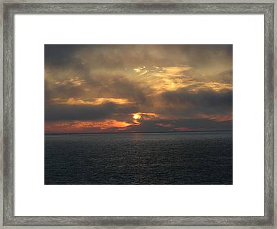 Lake Huron Sunset 3 Framed Print