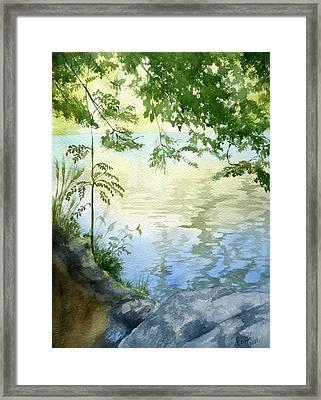 Lake Impression 2 Framed Print by Eleonora Perlic