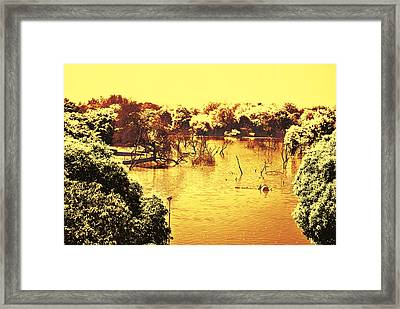 Lake In India Framed Print