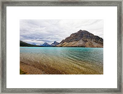 Lake In The Canadian Rockies Framed Print by George Oze