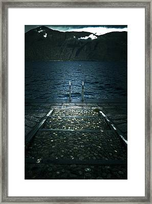 Lake In The Winter Framed Print by Joana Kruse