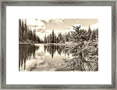 Lake Irene At Milner's Pass - Rocky Mountain National Park Colorado Framed Print